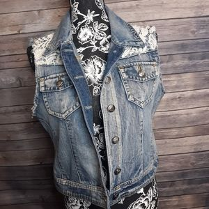 Cato denim vest size Large